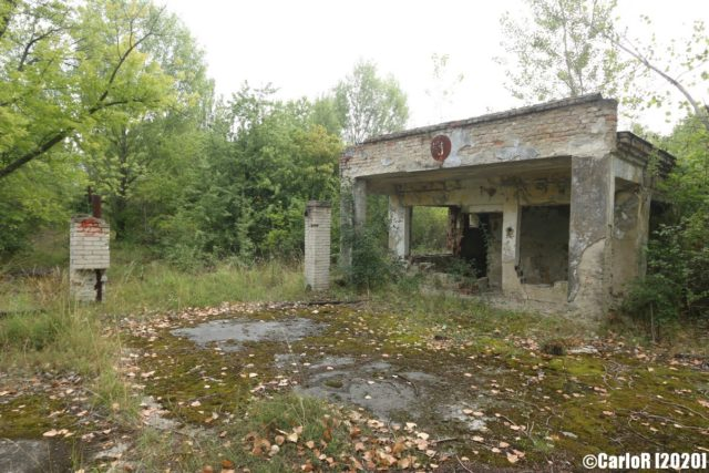 Abandoned bus shelter