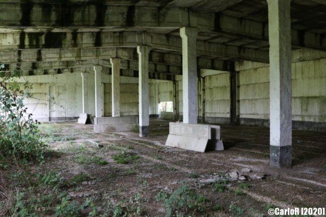 Shadowed building interior