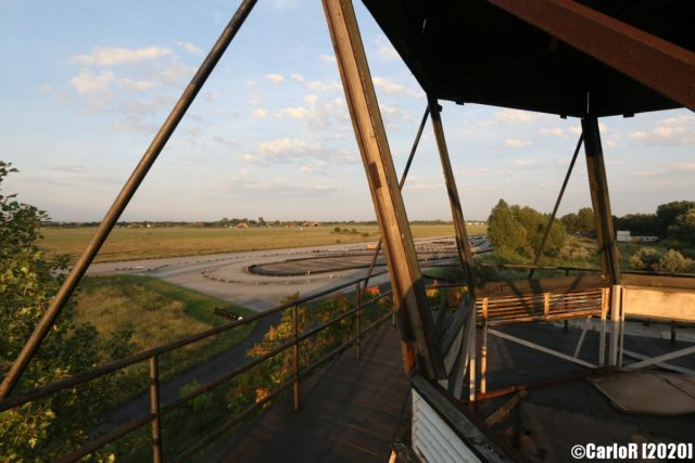 View of the outside of Tököl Airbase from an air traffic control tower