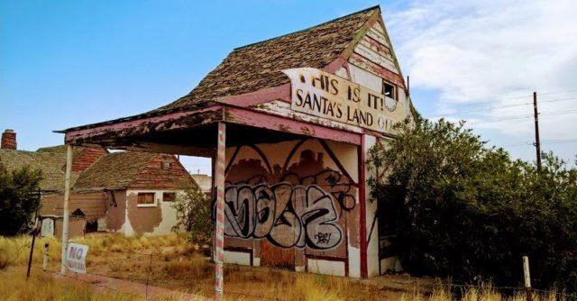 Rotting remains of Santa Claus post office