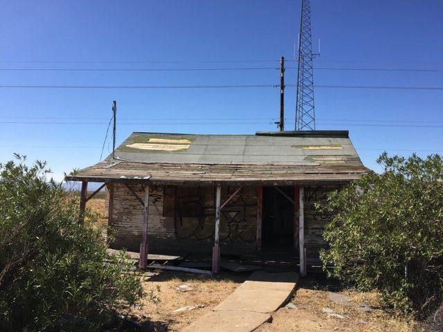 Abandoned wooden shack at Santa Claus
