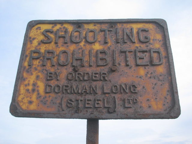 """Rusty """"Shooting Prohibited"""" sign"""