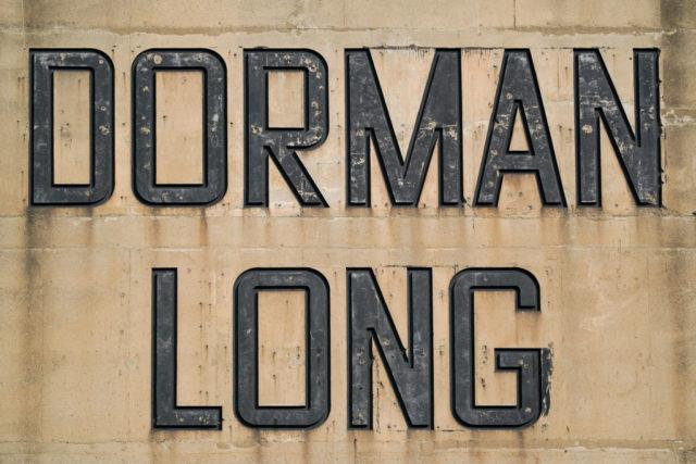 Dorman Long sign on concrete