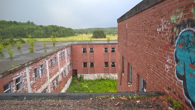 View of the exterior of Burwash Correctional Center from the roof